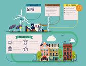 """Постер, картина, фотообои """"Альтернативные возобновляемые источники энергии инфографики макет"""""""