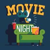'Movie Night' flat design
