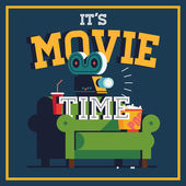 'It's Movie Time' web banner or poster template