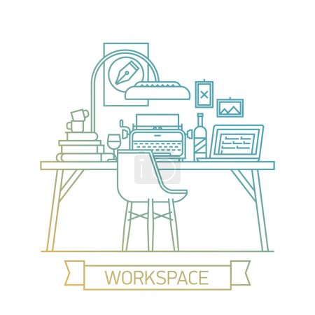 workspace and office interior.