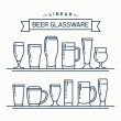 Постер, плакат: Beer glassware set