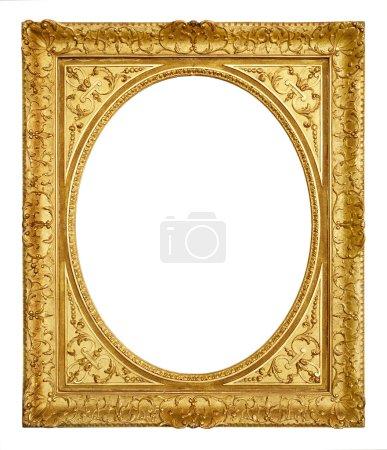 Golden vintage frame