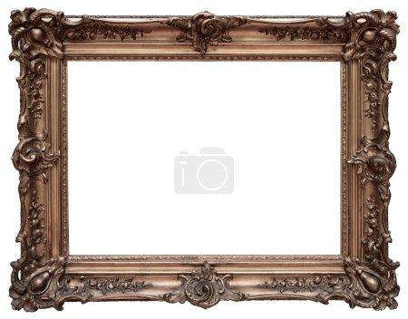 Photo pour Cadre en bois vintage isolé sur fond blanc - image libre de droit