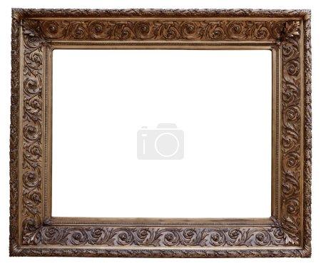 Photo pour Cadre vintage en bois isolé sur fond blanc - image libre de droit