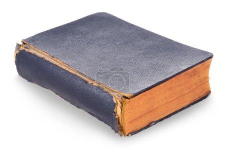Photo pour Vieux livre fermé sur fond blanc - image libre de droit