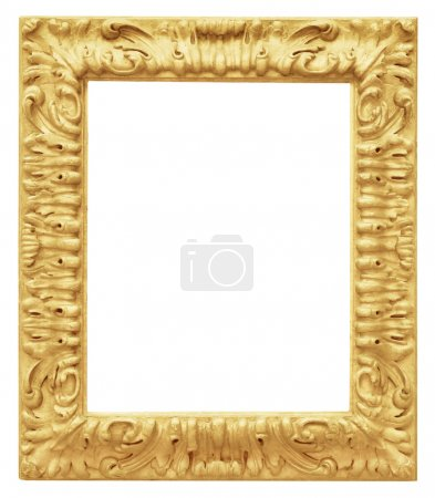 Photo for Golden vintage frame isolated on white background - Royalty Free Image