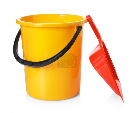 Yellow bucket and red scoop