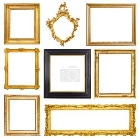 Set of golden vintage frames