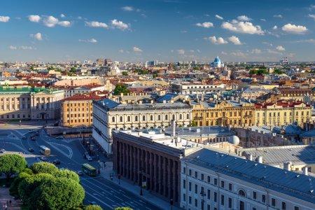 Scenic view on Saint-Petersburg city