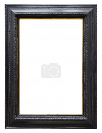 Photo for Wooden black vintage frame isolated on white background - Royalty Free Image