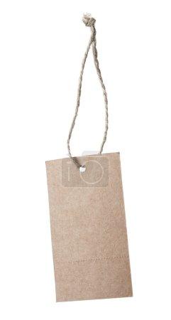 Brown blank price tag