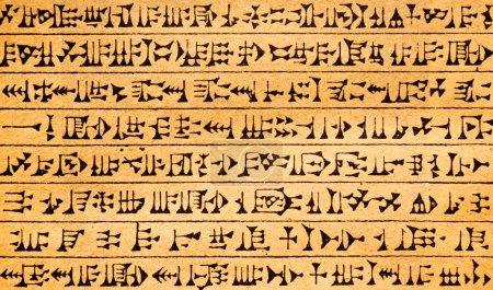 Antique symbols on paper