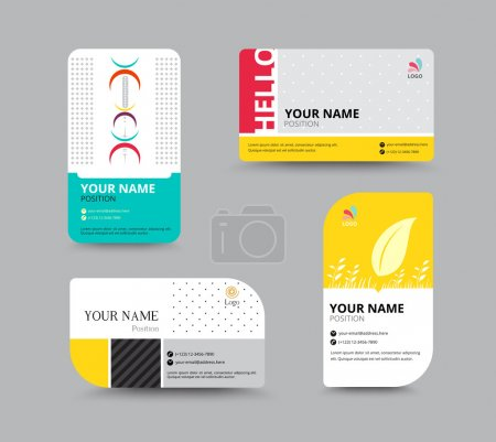 Illustration for Business card template. name card design for business. include sample text layout. vector illustration. simple name tag design concept. - Royalty Free Image