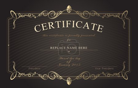 Illustration for Certificate border, Certificate template. vector illustration - Royalty Free Image