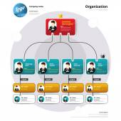 Organization chart Coporate structure Flow of organizational Vector illustration