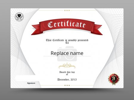Illustration for Certificate diploma border, Certificate template. vector illustration - Royalty Free Image