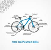 Schematic illustration of a mountain bike
