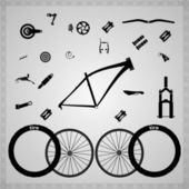 Bicycle components of different types