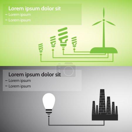 Alternative energy sources, conceptual image....
