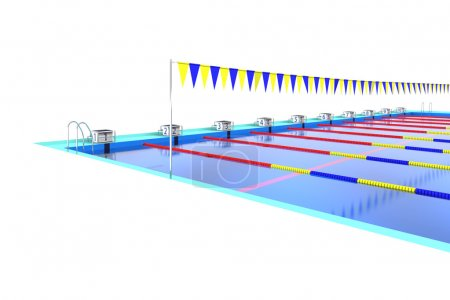 Start stand of swimming pool