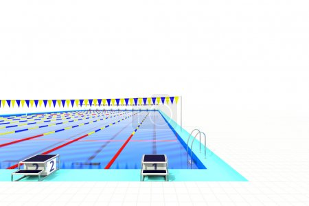 First course of 50m swimming pool