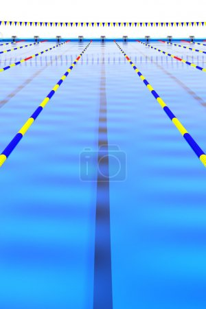 Long course of 50m swimming pool