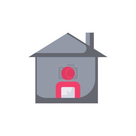 Photo pour Illustration vectorielle Travailler pour Home Icon - image libre de droit
