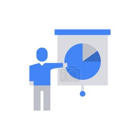 Photo pour Homme d'affaires Présentation Icône Illustration vectorielle - image libre de droit
