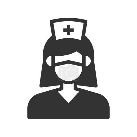 Photo pour Illustration vectorielle de l'icône infirmière . - image libre de droit