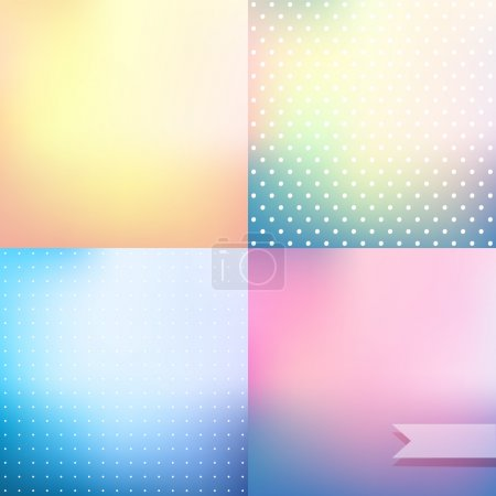 Pastel colored blurred backgrounds