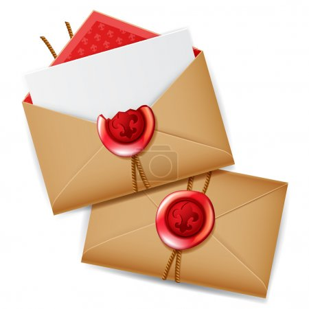 Private message with wax seal