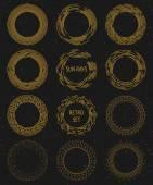 Vintage gold sunburst set