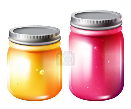 Glass jar with jam