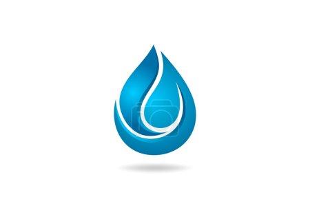 Water drop 3D logo