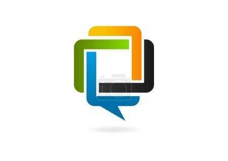 Speech bubble logo