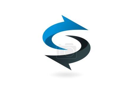 Absract business arrow logo design vector
