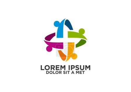 Abstract circular teamcreative logo design