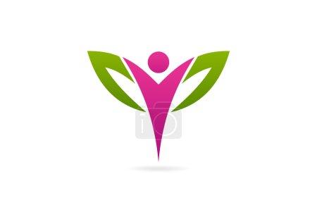 Woman wellness logo, beautiful spa design, skin care symbol icon vector
