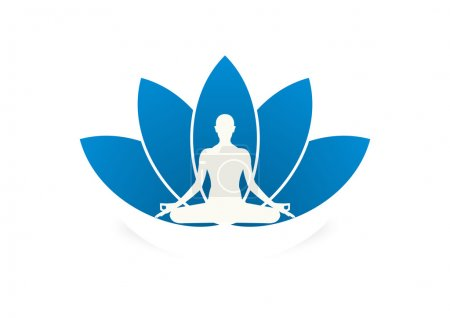 Illustration for Yoga business logo symbol design vector - Royalty Free Image