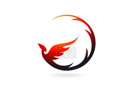 Illustration for Phoenix logo design symbol vector - Royalty Free Image