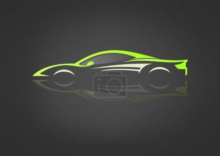 Illustration pour Vecteur de conception de symbole automobile - image libre de droit