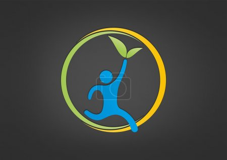 Natural Healthy life logo abstract wellness center