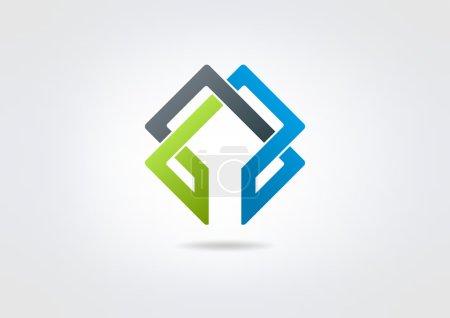 Illustration pour Infinite construction corporate vector logo design - image libre de droit