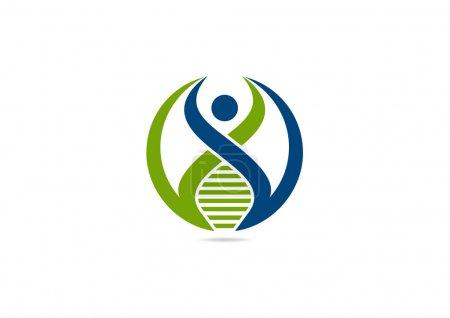 DNA human logo