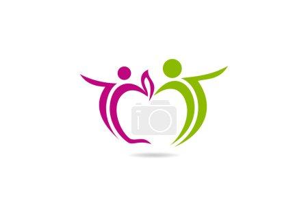 Apple healthy people logo