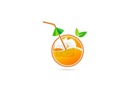 Illustration pour Icônes de fruits et de jus, symboles, étiquettes et éléments de design - image libre de droit