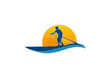 Paddle surfboard logo