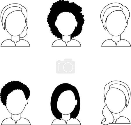 Photo pour Avatars d'occupation de différents gestionnaires. Collection de divers avatars de femme. - image libre de droit