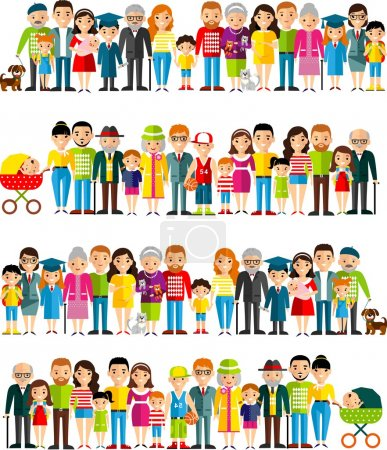 alle altersgruppen afrikanisch-amerikanischer, europäischer leute. Generationen Mann und Frau.
