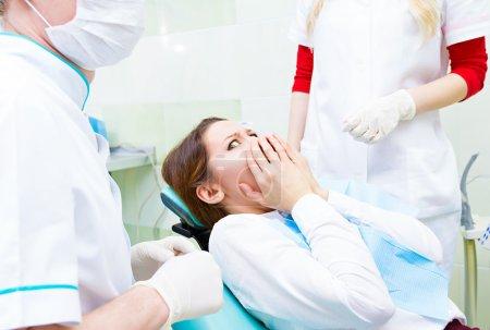 Patient scared of dental procedure